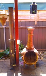 Outdoor pot belly heater/burner inlcudes accessories & Flute