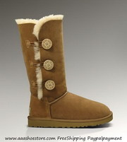 Hot sale Australia Chestnut Bailey Button Triplet Sheep Skin Boots Fre