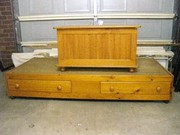Single bed and toy box