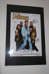 Framed signed posters of the Deltones  $100 each